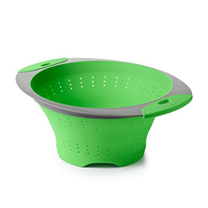 OXO Good Grips Green Silicone Collapsible Colander, 3.5 Quart