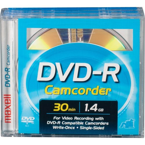 Maxell MINI DVD-R Removable Disc In Jewel Box for Sony DVD Camcorders - 3 Pk