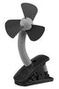 O2 Cool Battery Operated Fan 4 Inch Clip On Fan, Black (2 AA Batteries, Not Included)