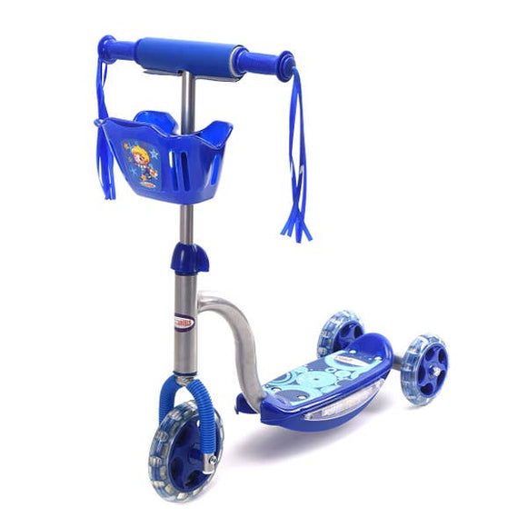 ChromeWheels Pixieplus 3 Wheels Toddler Scooter Light Sounds, Blue