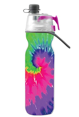 O2COOL HMCDP07 20 Oz ArcticSqueeze Insulated Mist 'N Sip Squeeze Bottle, Tie Dye