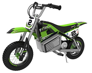 Razor SX350 Dirt Rocket McGrath Electric Motocross bike for Ages 13+ Max 140 lbs & Max Speed 14 MPH, Green