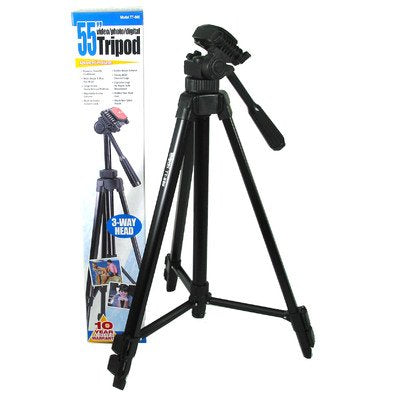 Aluminum Tripod with 3 Way Pan & Tilt Head, 55