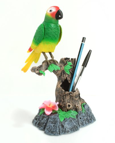 Talking Parrot by Princess International - Mimics Your Voice, And Repeats What You Say! - Uses 3 AA Batteries