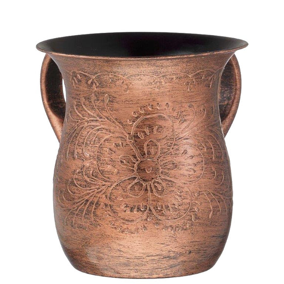 A&M Judaica Washing Cup Copper Antique Texture