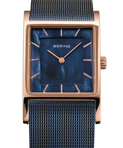 Bering Women's Classic Square Mesh Band Watch