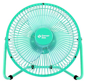 "Comfort Zone 2SP Clip/Desk Fan Combo, 8"", assorted colors Blue Green And Pink"