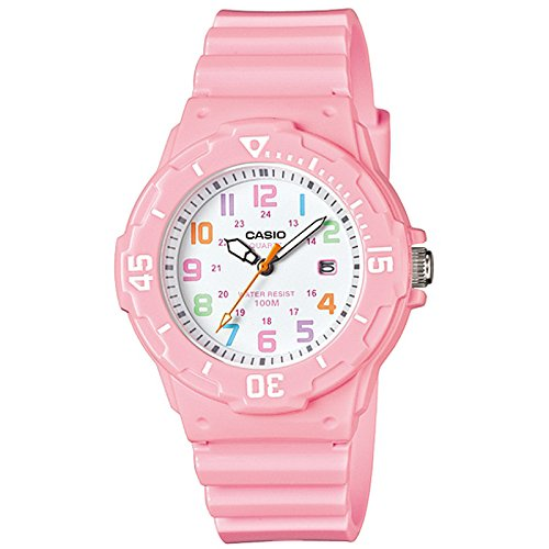 Casio LRW200H-4B2V Women's Watch, Pink with White Dial