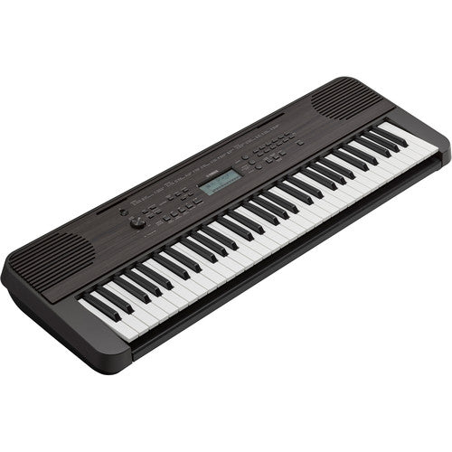Yamaha PSRE360 61 Key Mid Level Touch Sensitive Portable Keyboard, Dark Walnut (AC Adapter Included)