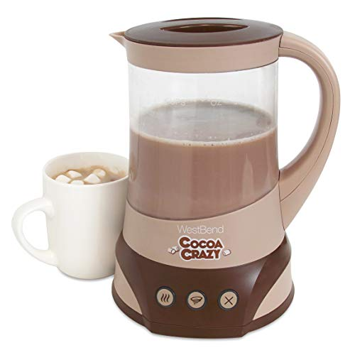 West Bend Crazy Hot Drink Maker for Instant Cocoa Coffee and Tea with Perfect Temperature Feature, 24-Ounce, Brown