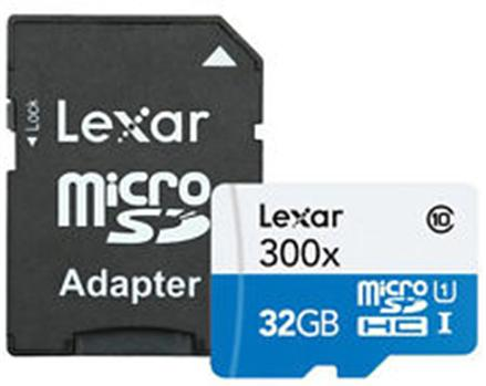 Lexar 32GB microSDHC High Speed Memory Card with Adapter