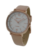 Geneva Rose Gold Watch with Blush Pink Leather Band