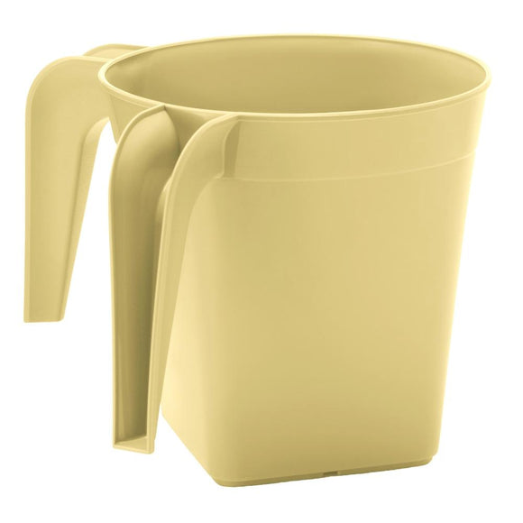 YBM Home Square Plastic Washing Cup, Beige