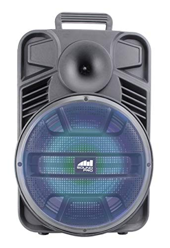 Naxa Electronics Portable Bluetooth Party Speaker with Disco Light, 12-inch, Black