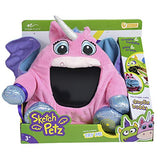 Sketch Petz Stuffed Animal with Sketch Pad (Monster, Pegasus)