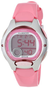 Casio Digital Sports Watch, (Pink, White Resin Strap)