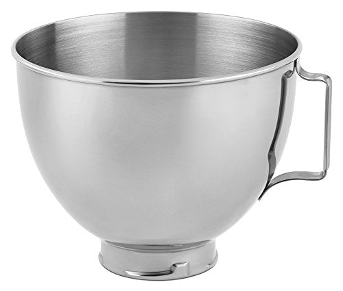 KitchenAid K45SBWH 4.5QT Bowl for Pivot Head Stand Mixer, Stainless Steel MIXREP