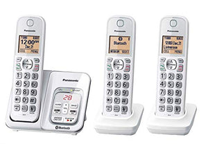 Panasonic KX-TG833SK1 Link2Cell Bluetooth Cordless Phone With Voice Assist, Voice Mail,  Talking caller id  3 Handsets NO BELT clip