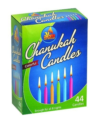 NER MITZVAH CHANUKAH CANDLES 44 PACK