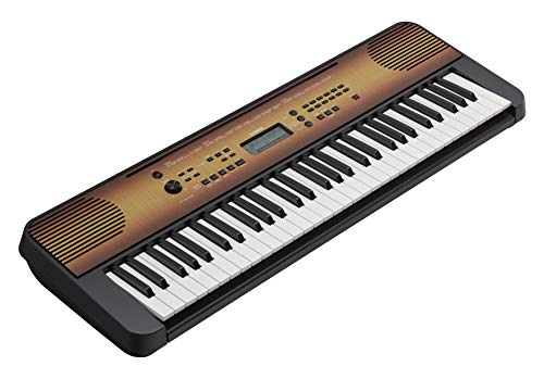 Yamaha PSRE360 61 Key Mid Level Touch Sensitive Portable Keyboard, Maple (AC Adapter Included)