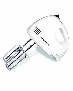 Proctor Silex 62515 5-Speed Easy Mix Hand Mixer, White HANDMIX