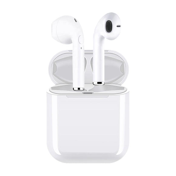 Impecca True Wireless Earphone Earbud Bluetooth Headphones with Charging Case, White