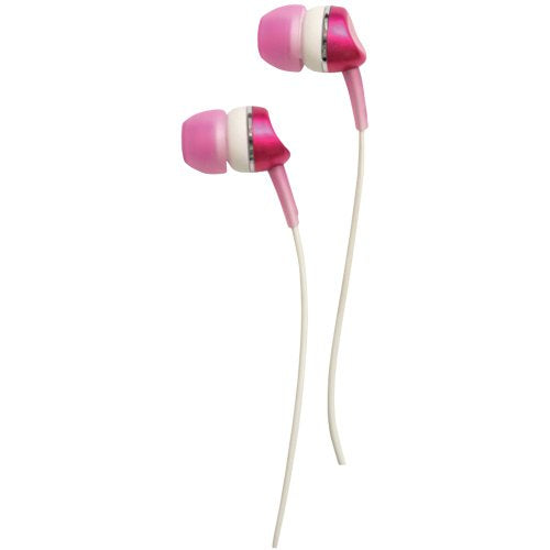 Wicked Metallics Wicked WI1900 Metallic Earphones Earbuds with 10mm Driver, Pink