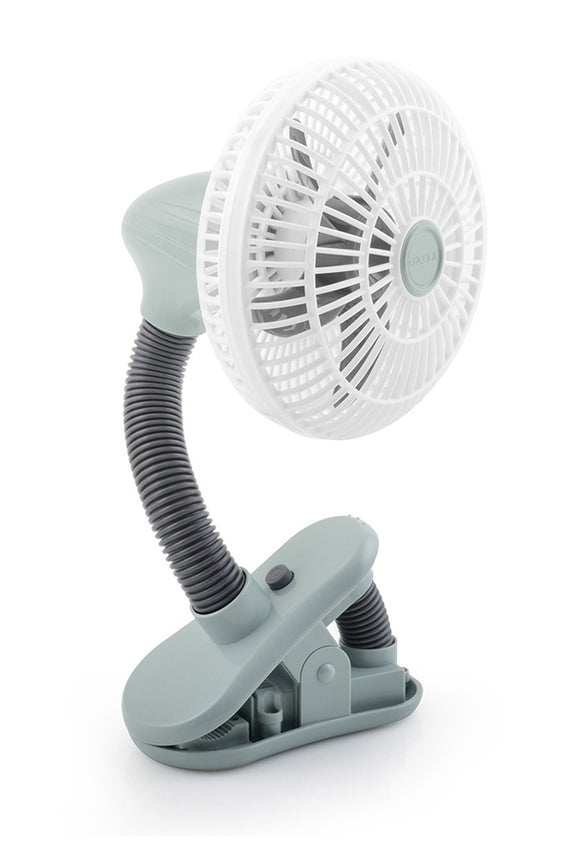 O2COOL 4 Inch Battery Operated Stroller Clip Fan, Grey (2 AA Batteries Required, Not Included)