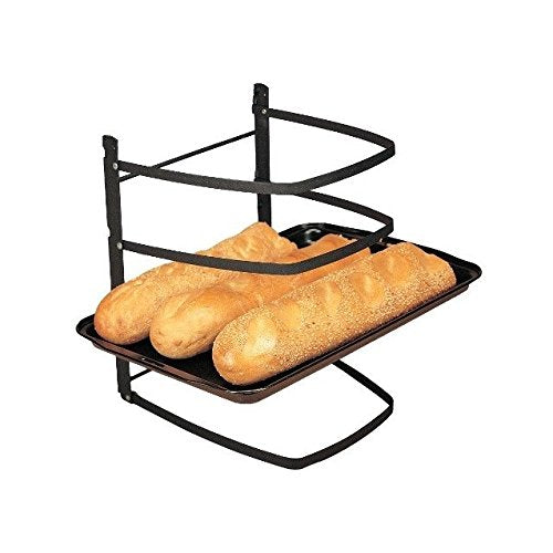 Linden Sweden Metal Cooling Rack 4-Tier Bakers Shelf for Baking Sheets, Pizza Stones and Muffin Tins, Folds Flat for Easy Storage