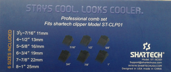 Shartech 6 Piece Comb Set