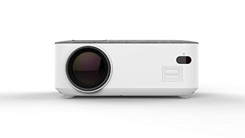 RCA RPJ143-WHITE 480p Home Theater Projector Supports 1080p w/HDMI & Bluetooth 5.0 USB, SD SLOT