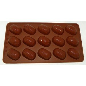 La Patisserie C-OS Silicone Chocolate Mould, Oval Swirls