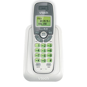 VTECH CS6114 DECT 6.0 Cordless Phone, White/Grey, 1 Handset (No Answering Machine, No Speakerphone)