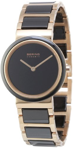 Bering Women's Ceramic Collection Watch, Gold / Black