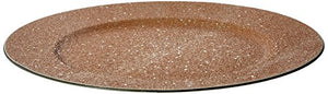"The Jay Companies 1180018 13"" Charger Plate, Glitter and Stars Gold"