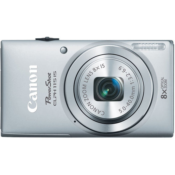 Canon PowerShot Elph 115 IS 16.0 MP Digital Camera with 8x Optical Zoom with a 28mm Wide-Angle Lens and 720p HD Video Recording - Silver - Factory Refurbished