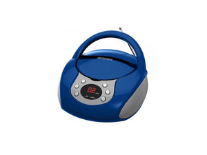 Riptunes CD Boombox with Aux In (Blue)
