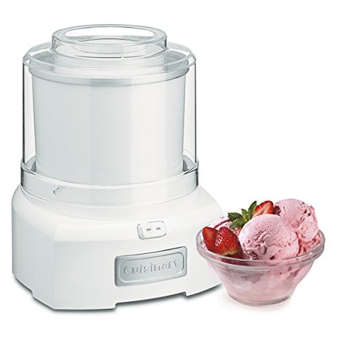 Cuisinart 1.5 Quart Frozen Yogurt Ice Cream Maker, 1.5Qt, White