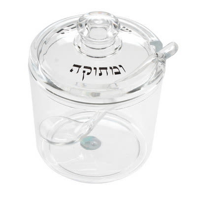 A&M Judaica Rosh Hashana Acrylic Honey Dish 3.5