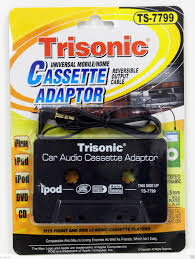 Trisonic Powtech TS-7799  Cassette Adapter - Black