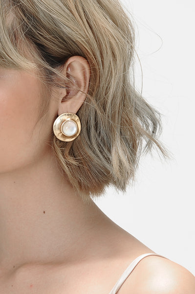 Circle and Crescent Mismatched Earrings