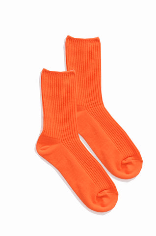 Vivid Orange Socks