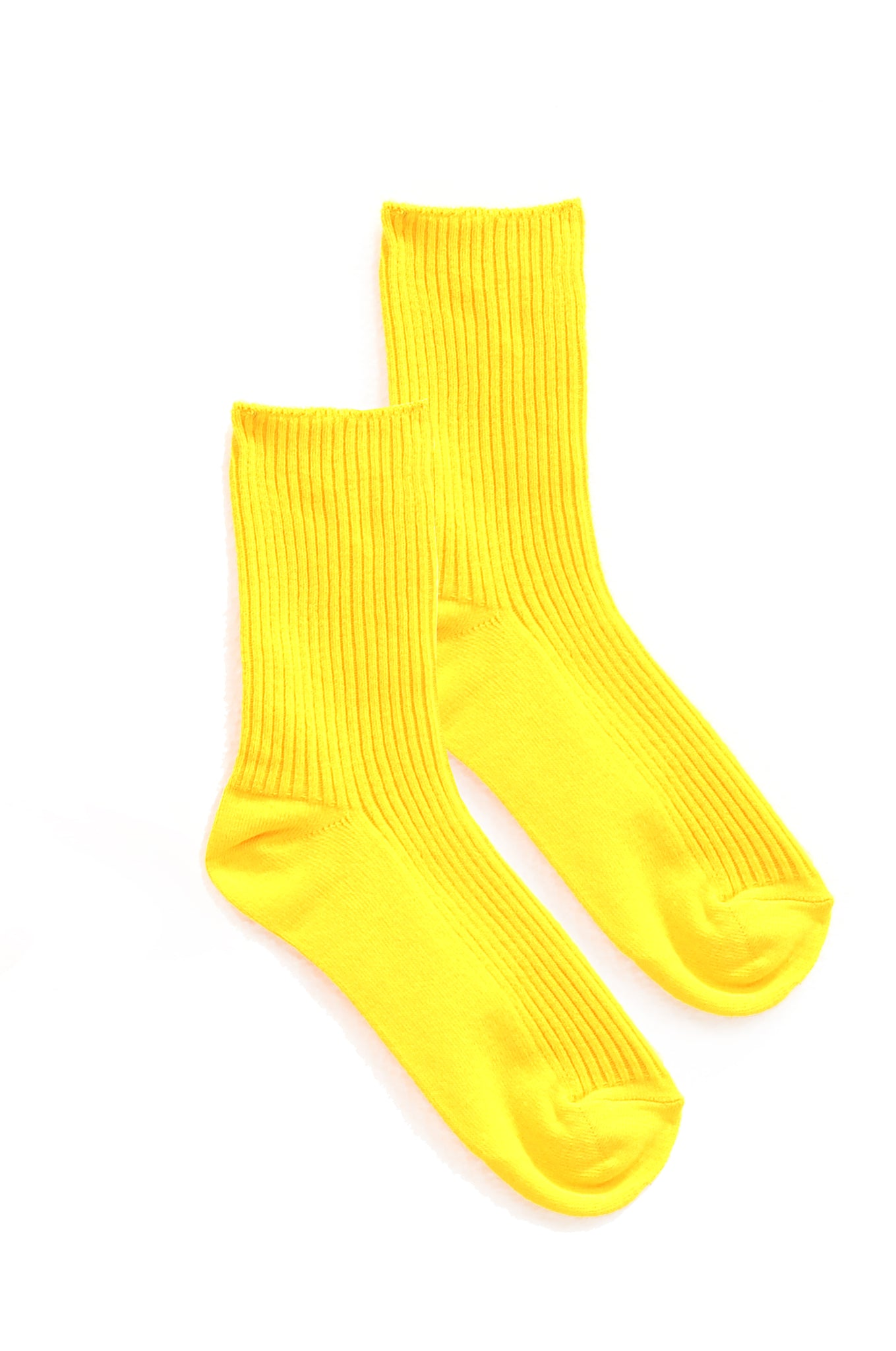 Vivid Yellow Socks