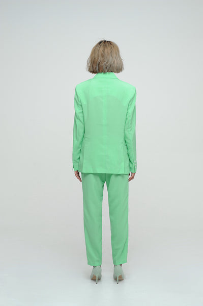 Spring Green Blazer Suit Set