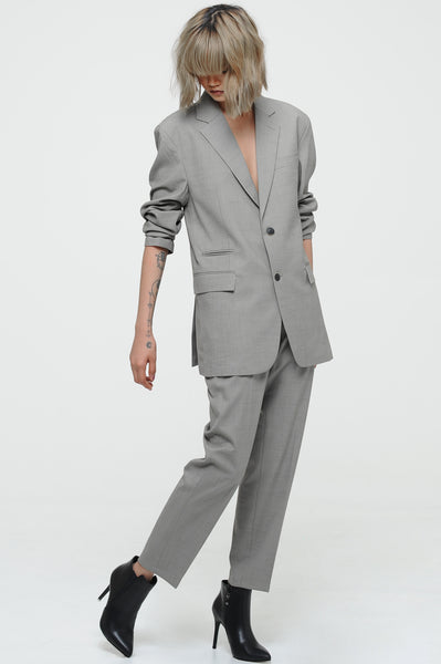Pewter Single Breasted Blazer Set