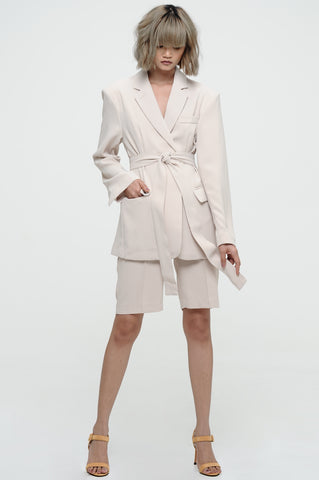 Sand Wrap-Jacket Suit Set