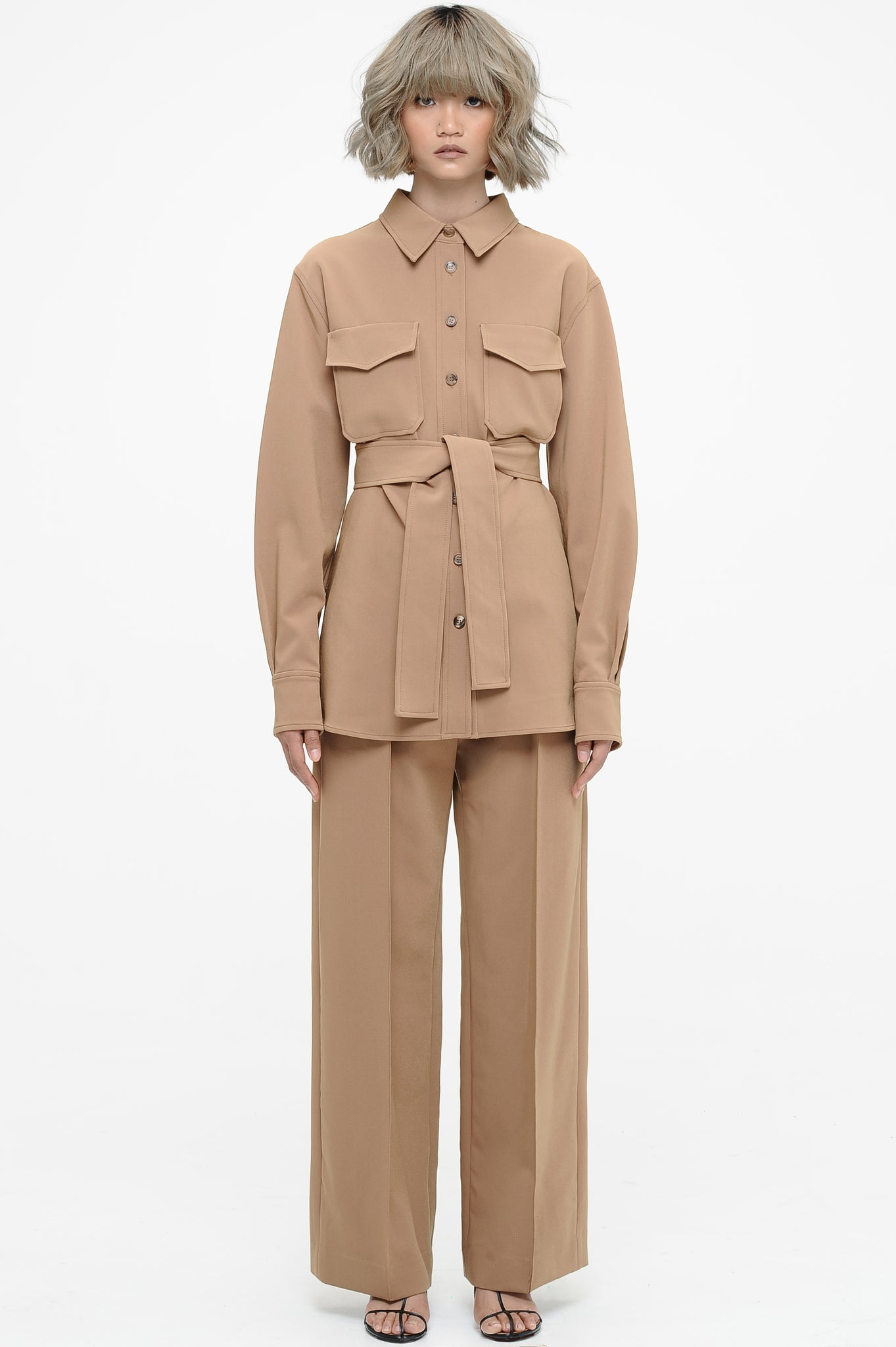 Khaki Utility Shirt and Trousers Set