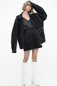 Black Oversized Boyfriend Jacket