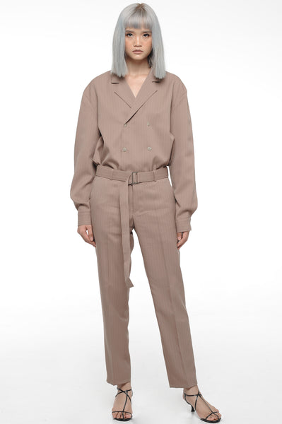 Sepia Double Breasted Slouch Suit Set