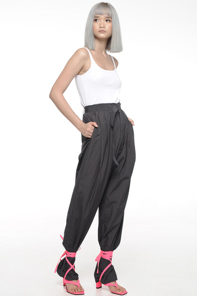 Black Long Length Trousers